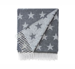 Image Charcoal Reversible Star Jacquard Throw