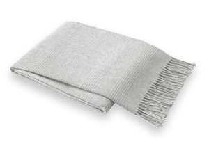 Image Light Gray Glen Plaid Throw