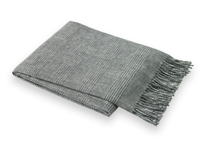 Image Dark Gray Glen Plaid Throw