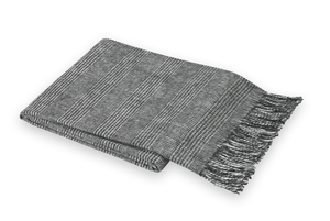 Image Black Glen Plaid Throw