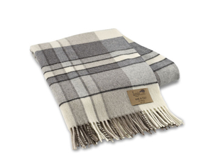 Image Gray Mod Plaid Lambswool Throw