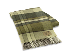 Image Green Mod Plaid Lambswool Throw
