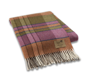 Image Orchid Mod Plaid Lambswool Throw