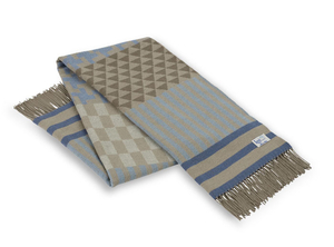 Image Blue Calypso Geo Italian Throw