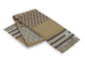 Image Mocha Calypso Geo Italian Throw