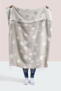 Image Gray Snowball Cotton Jacquard Throw