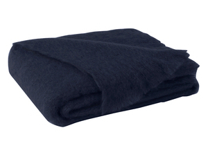 Image Navy Brushed Mohair Throw