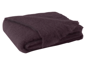 Image Mulberry Brushed Mohair Throw