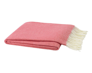 Image Coral Italian Herringbone Throw