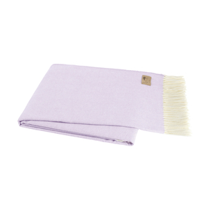 Image Lilac Italian Herringbone Throw