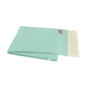 Image Aqua Italian Herringbone Throw