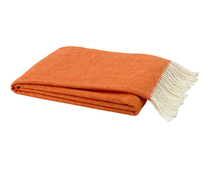 Image Tangerine Italian Herringbone Throw