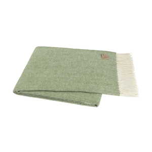 Image Olive Italian Herringbone Throw