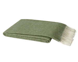 Olive Italian Herringbone Throw image