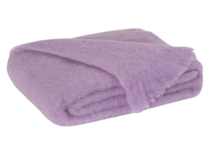 Image Lilac Brushed Mohair Throw