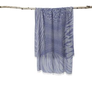 dac4239bddff1 AVvOLTO Blue Zebra Patchwork Scarf | Scarves