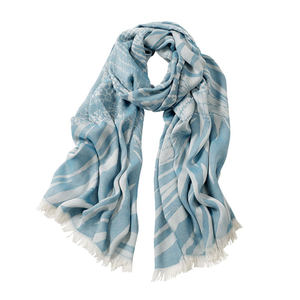 Image AVvOLTO Turquoise Zebra Patchwork Scarf