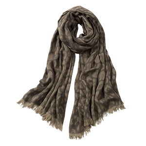 Image AVvOLTO Brown Leopard Print Scarf