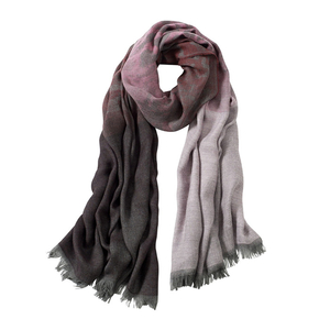 Image AVvOLTO Pink Shadow Leopard  Ombre Scarf