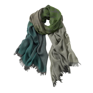 Image AVvOLTO Green Shadow Leopard  Ombre Scarf