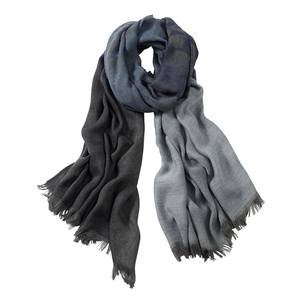 Image AVvOLTO Blue Shadow Leopard  Ombre Scarf
