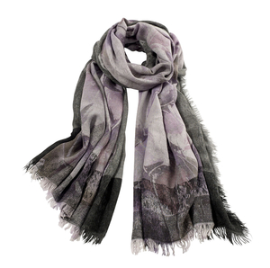 Image AVvOLTO Floral Digital Printed Scarf, Lilac