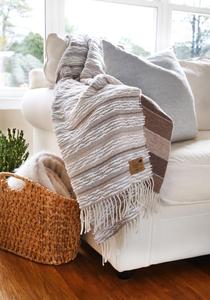 Taupe Strato Italian Blanket Italian Textured Strato Throws