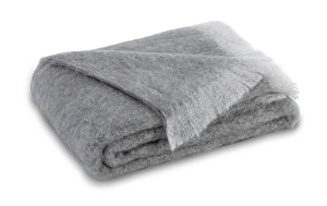 Image Pewter Brushed Mohair Throw