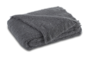 Image Slate Brushed Mohair Throw
