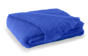 Image Cobalt Brushed Mohair Throw