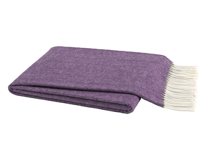 Image Plum Italian Herringbone Throw