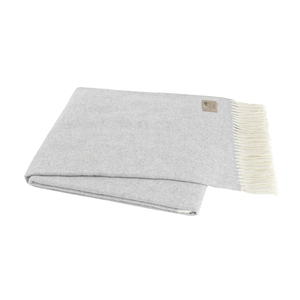 Image Light Gray Italian Herringbone Throw
