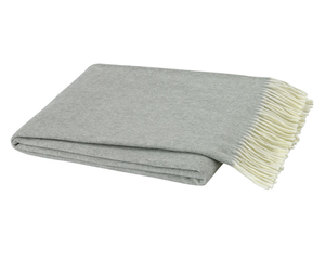 Light Gray Italian Herringbone Throw image