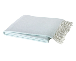 Image Ice Blue Italian Herringbone Throw