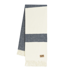 Image Navy Sydney Herringbone Stripe Throw
