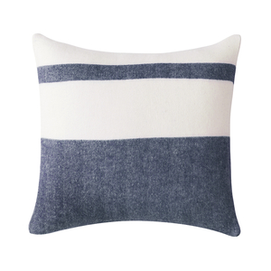 Image Navy Sydney Herringbone Stripe Pillow