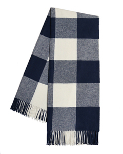 Navy Buffalo Check Throw image
