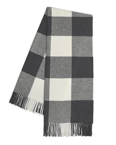 Image Charcoal Buffalo Check Throw