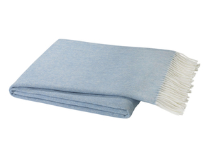 Image Blue Denim Italian Herringbone Throw