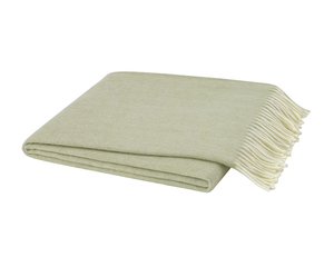 Image White Sage Italian Herringbone Throw