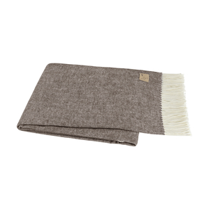 Image Chestnut Brown Italian Herringbone Throw