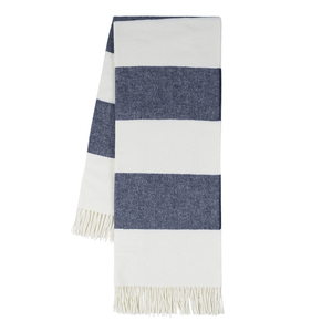 Navy Rugby Stripe Throw image
