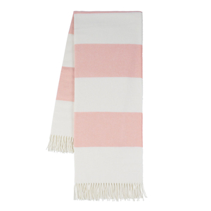 Image Blush Rugby Stripe Throw