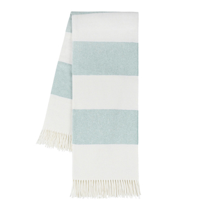 Image Glacier Blue Rugby Stripe Throw