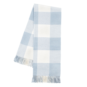 Image Baby Blue Buffalo Check Throw