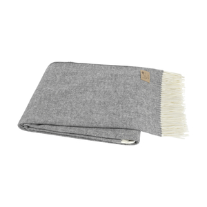 Image Charcoal Gray Italian Herringbone Throw