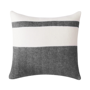 Image Charcoal Sydney Herringbone Stripe Pillow
