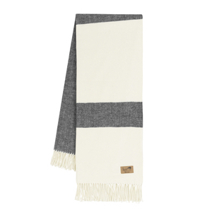 Image Charcoal Sydney Herringbone Stripe Throw