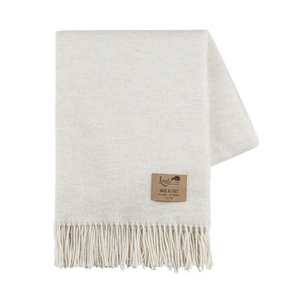 Image Heathered Ivory Juno Cashmere Throw