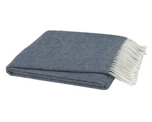 Image Midnight Blue Italian Herringbone Throw